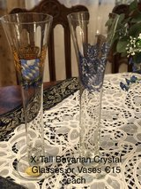 TALL Bavarian Crest Vases in Ramstein, Germany