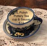 Polish Pottery Teacup in Ramstein, Germany