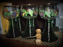 6 Vintage wine glasses in Ramstein, Germany