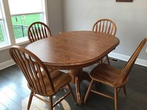 Wooden table and 4 chairs in Fort Leavenworth, Kansas