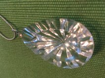 Pendant Teardrop Shape Faceted Clear On Silver Chain Vintage Looks New in Kingwood, Texas