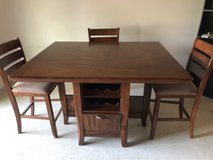 Wooden dining room table in Nellis AFB, Nevada