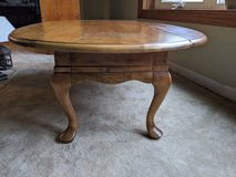 Coffee table, Queen Anne style with fold-down sides in Batavia, Illinois