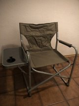 Steel Frame Folded/Portable Camping Chair w/ Side Table in Ramstein, Germany
