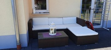Garden couch rattan brown in Ramstein, Germany