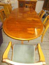 large dining room table and 6 chairs in Lakenheath, UK