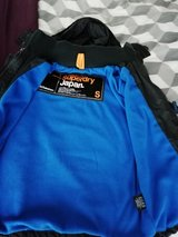 superdry  jacket grey with blue fleece  needs a new zip in Lakenheath, UK