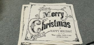 Christmas  pillow case vintage look black and white in Ramstein, Germany