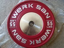 Werksan Competition Bumper Plates in Yucca Valley, California