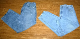 2 Pair Mens 38 x 30 Loose Fit Levi Blue Jeans / Pants in Orland Park, Illinois