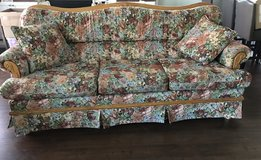 Oak floral couch in Travis AFB, California