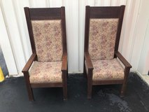 Antique High Back Solid QTR Oak Chairs (2) in Cherry Point, North Carolina