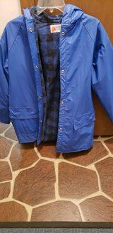 Hooded slicker raincoat w/plaid flannel lining Small Adult or L/XL Child in Chicago, Illinois