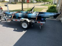 13 kayak and trailer in Joliet, Illinois