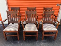 Antoque Mission Qtr Oak Arm Chairs 6 in Cherry Point, North Carolina