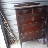 old wood dresser in Cleveland, Texas
