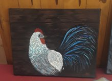 Chicken painting in Fort Knox, Kentucky
