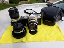 Nikkormat camera body chrome & lenses in Chicago, Illinois