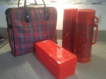 Plaid Aladdin Thermos/holder in Bartlett, Illinois