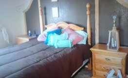 Bedroom set w/double bed, 2 night stands, dressor w/mirror &  hope chest by Furniture Traditions in Yucca Valley, California