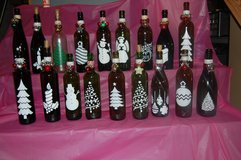 Lighted Decorative Christmas wine bottles in Westmont, Illinois