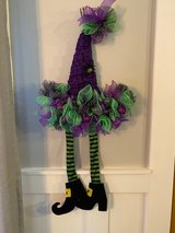 Halloween wreath witch's hat in Naperville, Illinois