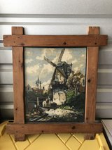 Windmill framed needlepoint in Conroe, Texas