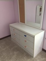 white dresser with mirror in Naperville, Illinois