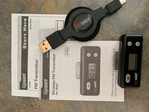 iPod or iPhone 4 Wireless FM Transmitter + Retractable Charging Cable in Bartlett, Illinois