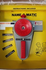 Vintage Kohner Bros Name-O-Matic Name-Plate Machine - Label Maker W Original Box in St. Charles, Illinois