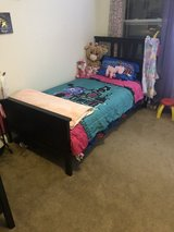 Two twin beds in Travis AFB, California