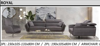 United Furniture - Royal - Sofa with electric function - Loveseat - Revolving 360 degree Chair in Spangdahlem, Germany