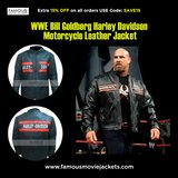 WWE Bill Goldberg Harley Davidson Motorcycle Leather Jacket in The Woodlands, Texas