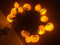 Lighted pumpkins with stakes (2 strands) in Batavia, Illinois