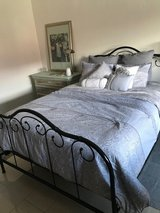 Wrought Iron Bed Queen in Ramstein, Germany