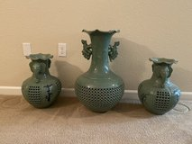 Celadon vases from Japan in Travis AFB, California