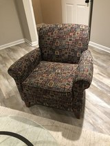 Chair - hardly used + two pillows to match in Joliet, Illinois