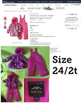 24/2t pink snow suit in Orland Park, Illinois