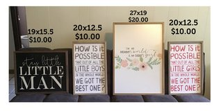 Wall hangings for boy or girls bedroom in Orland Park, Illinois