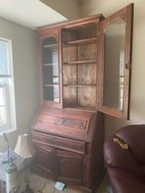 Oak Desk / Bookcase OLD / in Batavia, Illinois