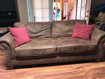 sofa couch soft leather in Yucca Valley, California