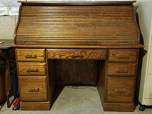 Oak Roll top desk w/chair in Batavia, Illinois