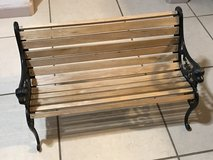 Small Heavy Duty Wrought Iron Park Garden Bench EUC in Travis AFB, California