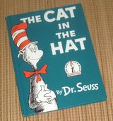 Vintage 1985 Dr Seuss Cat In the Hat Hard Cover Book in Yorkville, Illinois
