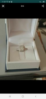 1 1/2 CT TW Cushion & Round-Cut Diamond Double Halo Engagement Ring in 14k White Gold in Clarksville, Tennessee