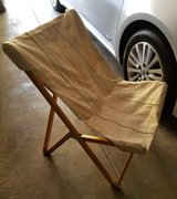 Canvas folding chair in St. Charles, Illinois