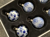 Williams and Sonoma Blue and white ornaments in Okinawa, Japan