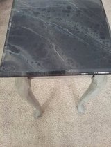 Distressed Sofa Table with Marble top in Beaufort, South Carolina