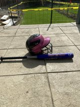 Softball bat and helmet in Fairfield, California