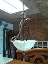 Metal Hanging Fixture/Frosted Glass Shade #2410-92 in Camp Lejeune, North Carolina